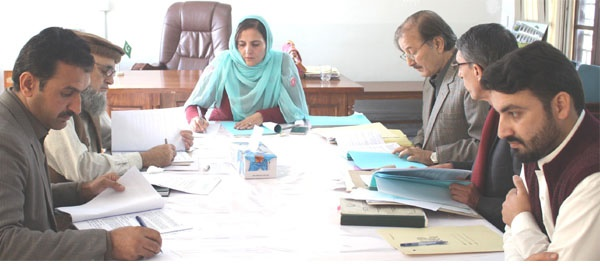 2nd Meeting of Syndicate Women University Swabi, Chaired by Prof. Dr. Khanzadi Fatima Khattak, Dated 15 Dec,2016